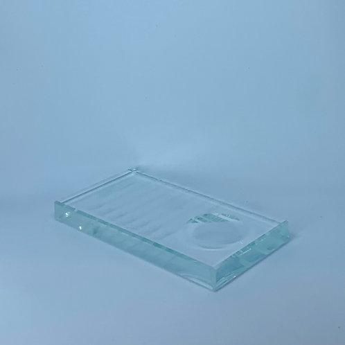 Glass lash palette
