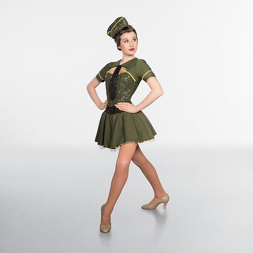 Sequinned Military Costume
