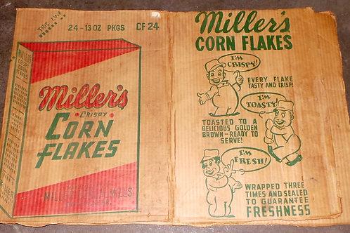 Millers Corn Flake Packing Cardboard Box