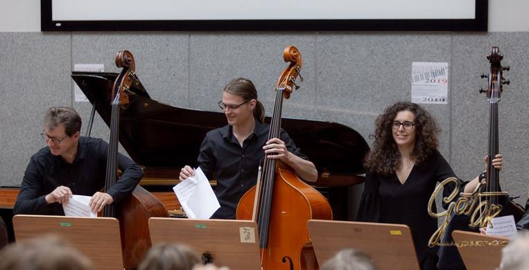 Wolgang Weissensteiner, Jernej Budin, Claudia Trigueros (KUG Bassband)