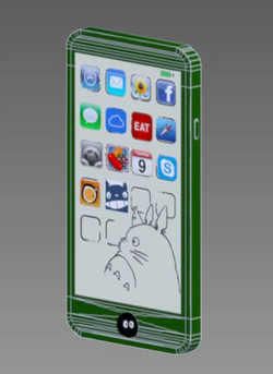 Totoro iPhone Wire Frame Back