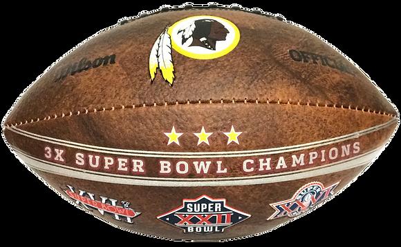 "Washington Redskins 9"" Commemorative Super Bowl Champs Football"