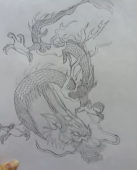 Dragon Tattoo Draft for Client