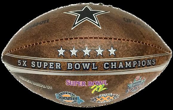 "Dallas Cowboys 9"" Commemorative Super Bowl Champs Football"