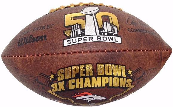 "Denver Broncos 9"" Commemorative Super Bowl Champs Football"