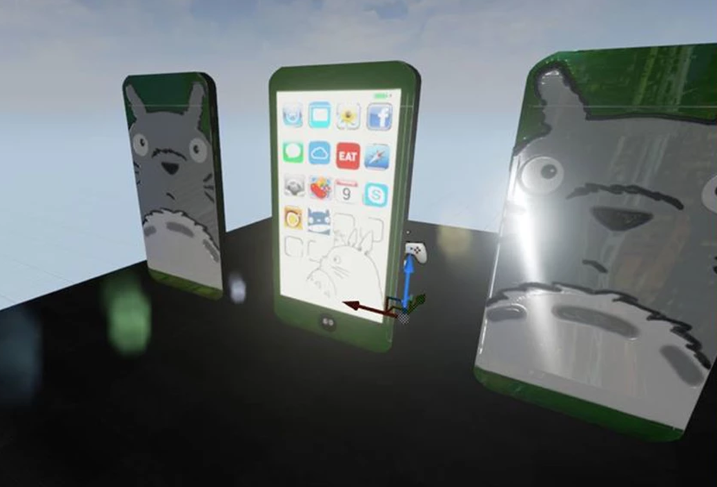 Totoro iPhone in UNREAL Engine
