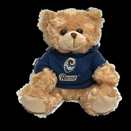 """Los Angeles Rams 9"""" Hoodie Rally Bear"""