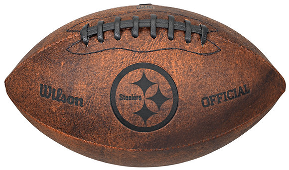 "Pittsburgh Steelers 11"" Throwback Football"