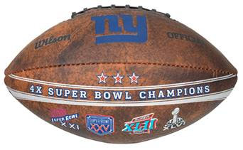 "New York Giants 9"" Commemorative Super Bowl Champs Football"