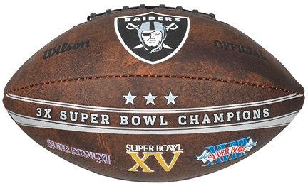 "Raiders 9"" Commemorative Super Bowl Champs Football"