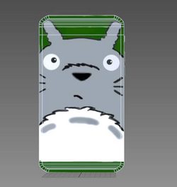 Totoro iPhone Wire Frame Front
