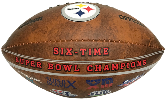 "Pittsburgh Steelers 9"" Commemorative Super Bowl Champs Football"
