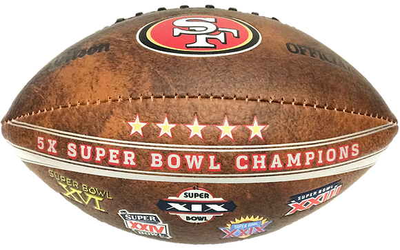 "San Francisco 49ers 9"" Commemorative Super Bowl Champs Football"