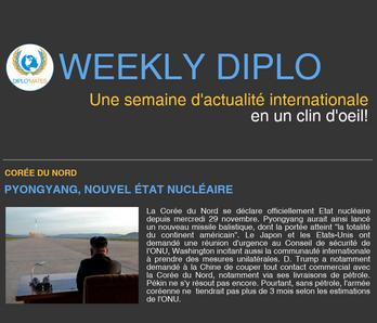 Weekly Diplo #83 (27 novembre - 3 décembre 2017)