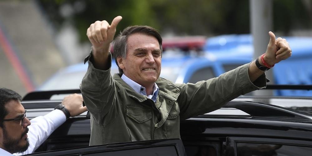 Jair Bolsonaro le 28 octobre 2018 / AFP (Mauro Pimentel)