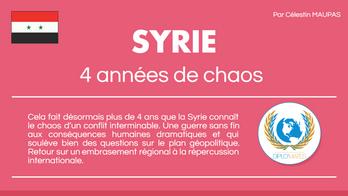 SYRIE : 4 ans de chaos en infographie