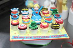 Supergirl avengers cupcakes