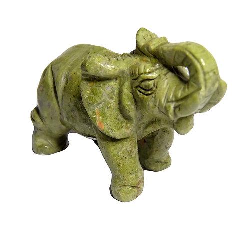 UNAKITE ELEPHANT CARVING