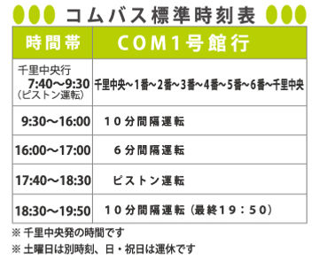 COMバス時刻表