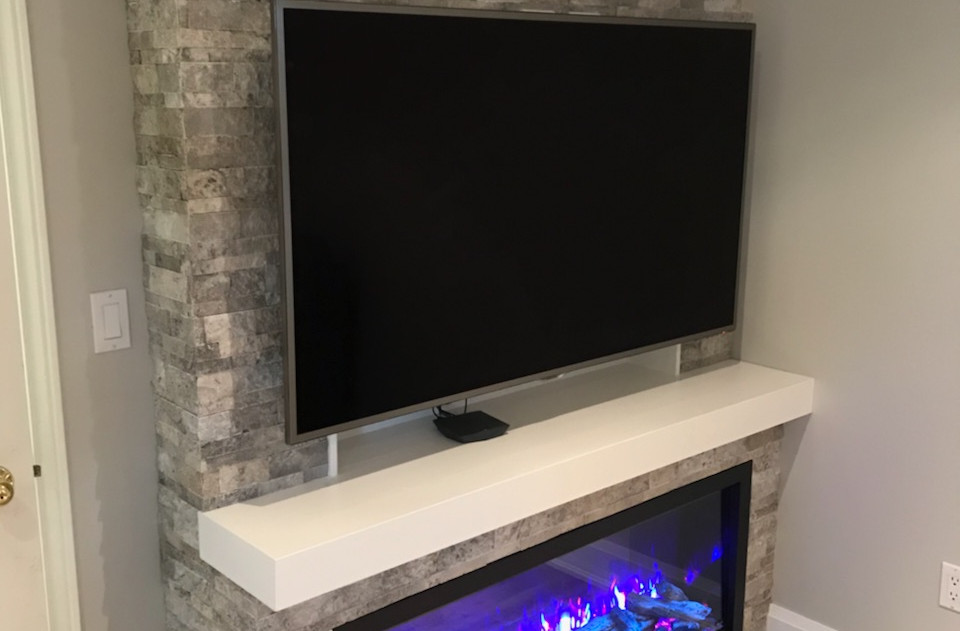 """Amantii 50"""" Symmetry electric fireplace with enclosure"""