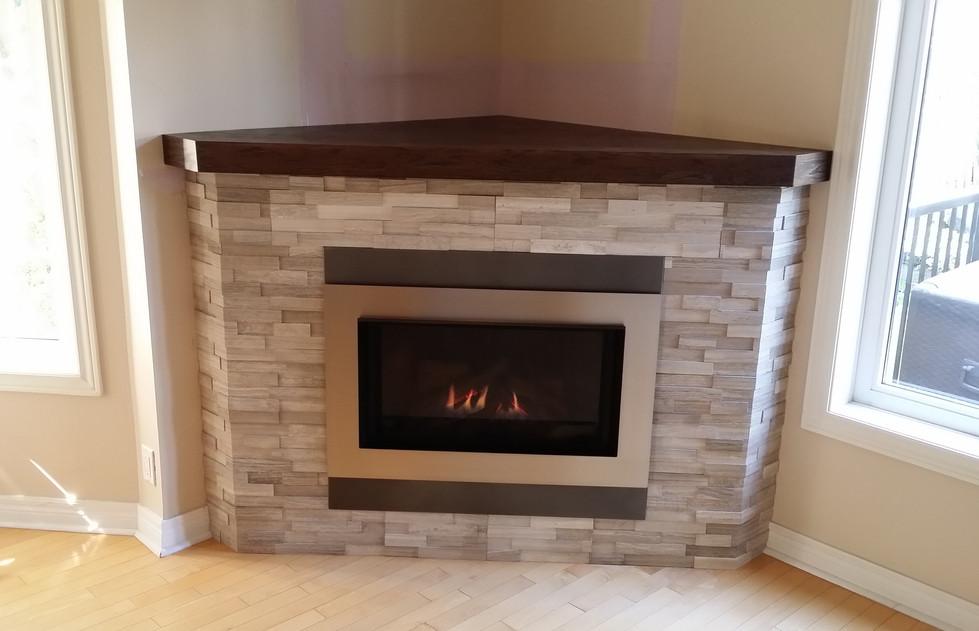 Corner Fireplace enclosure