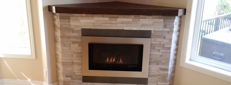 Corner Fireplace enclosure
