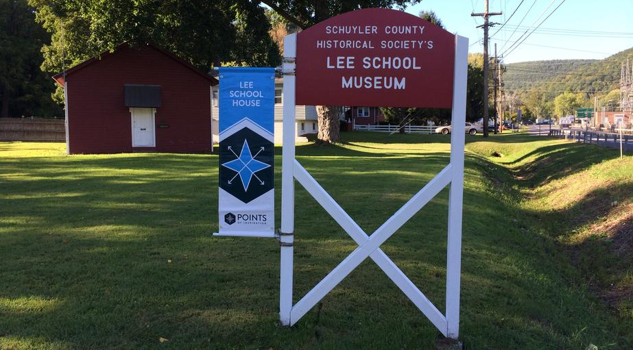 Lee School House Sign