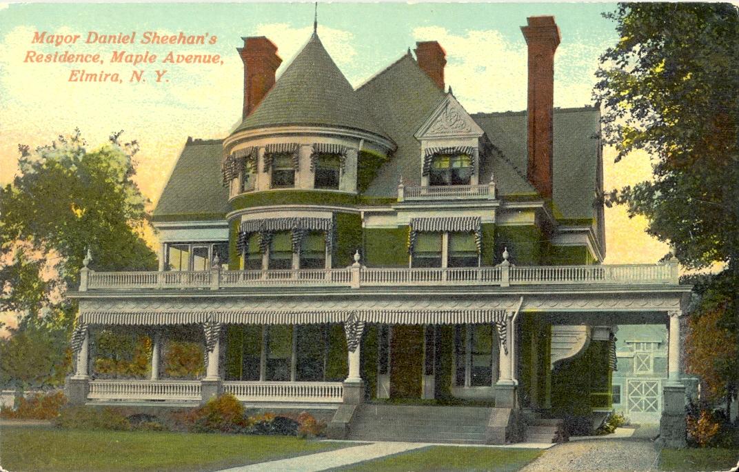 Christmas House Historic Postcard