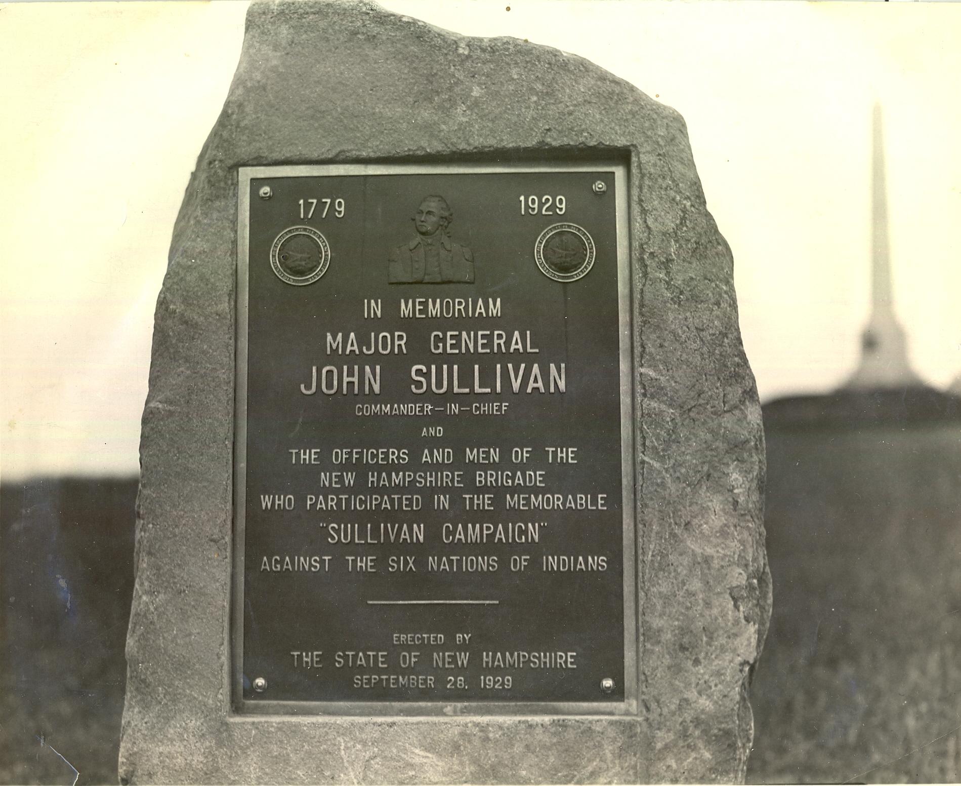 General Sullivan Plaque