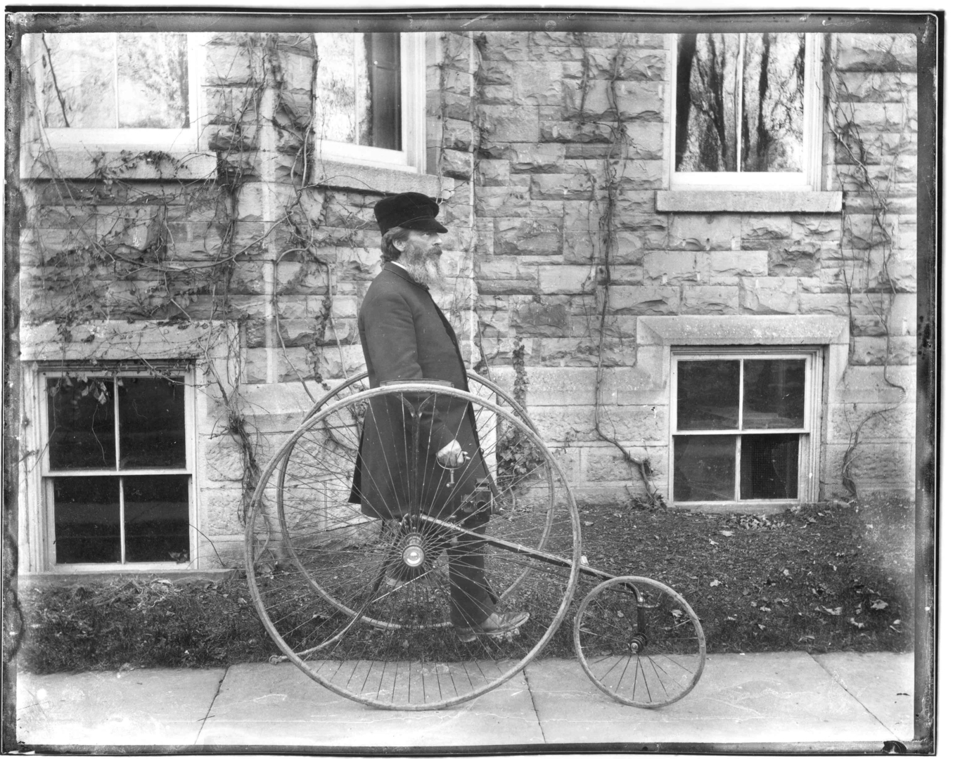 Rev. Beecher on Tricycle