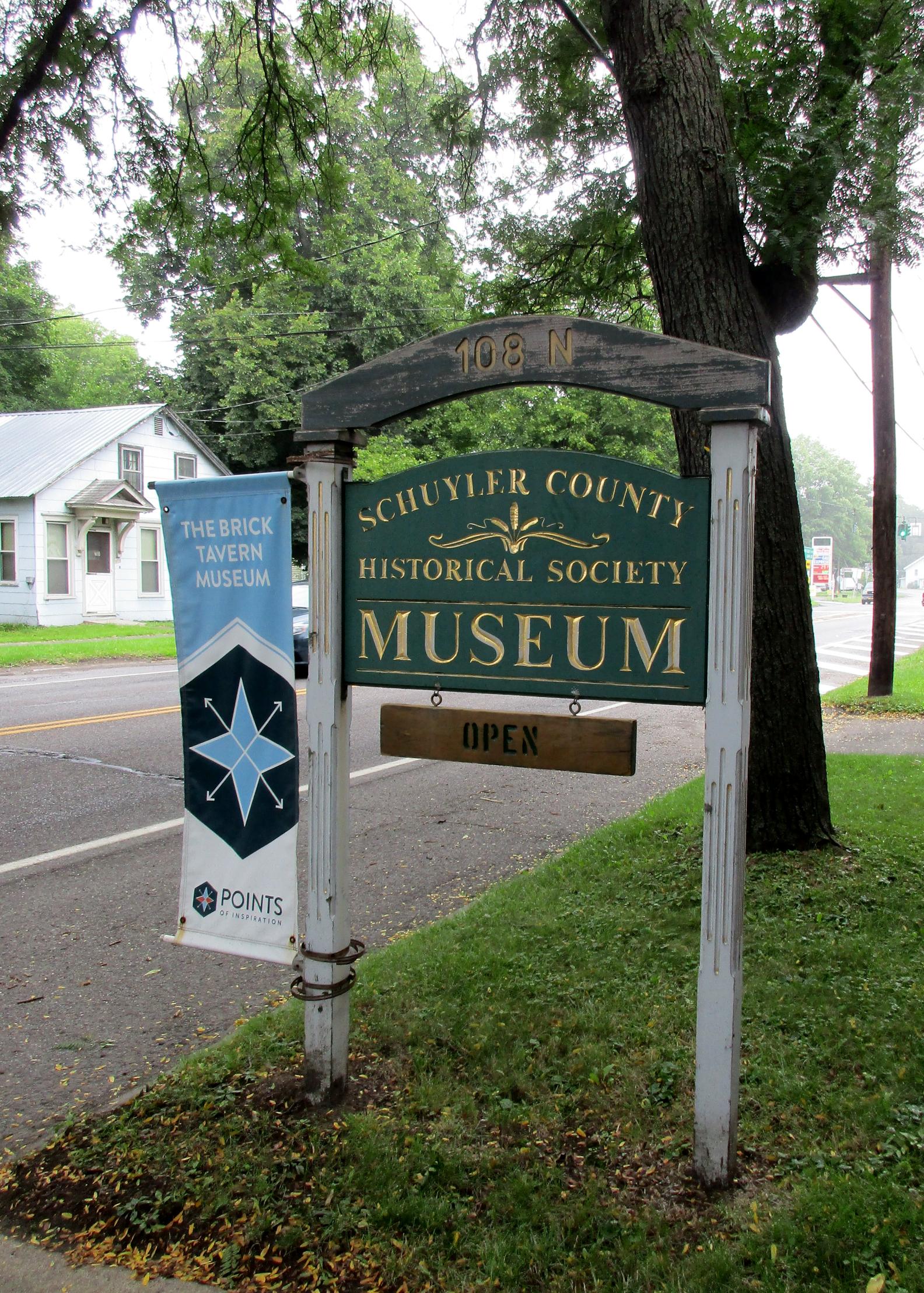 Brick Tavern Museum sign