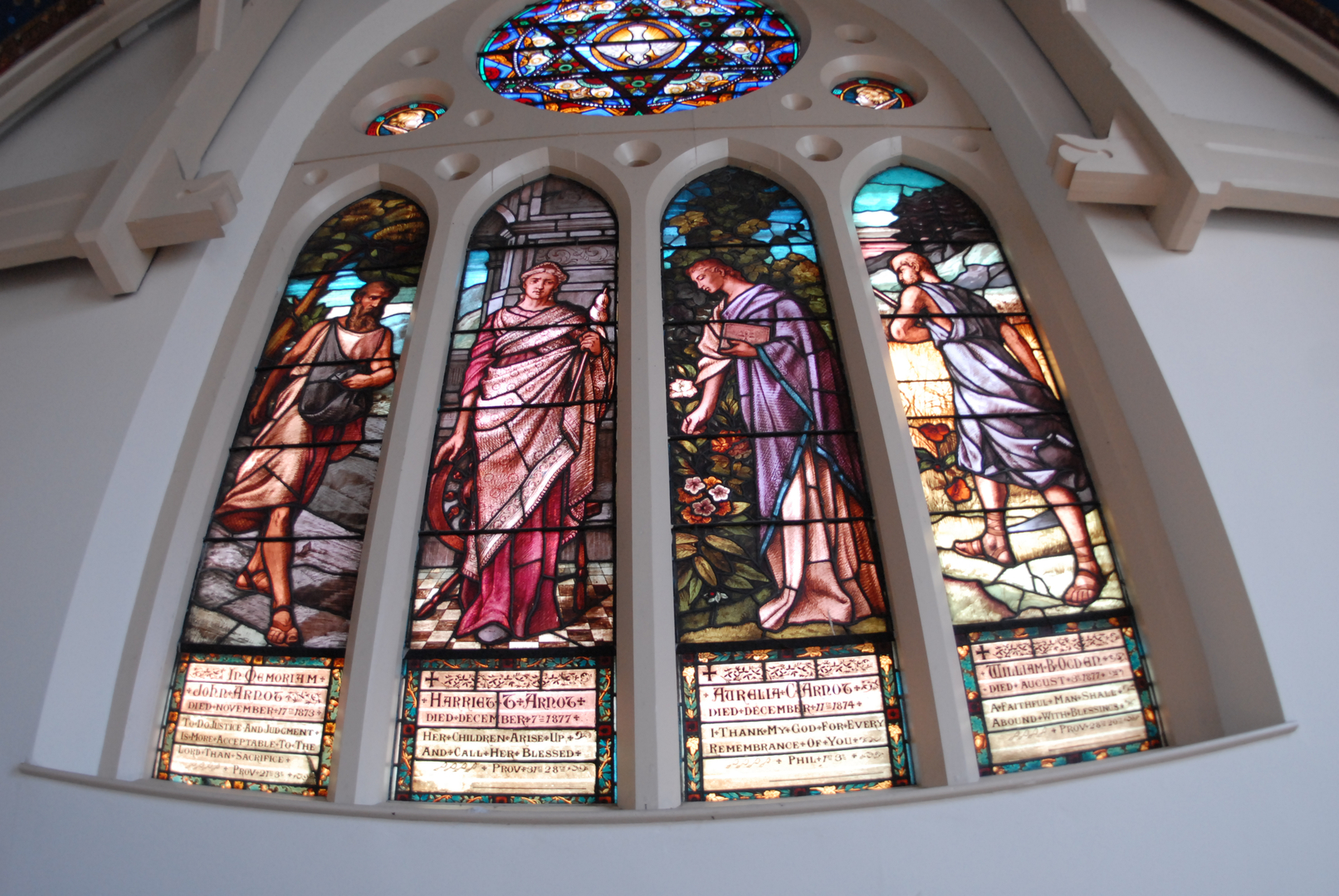 Stained glass of Trinity Church