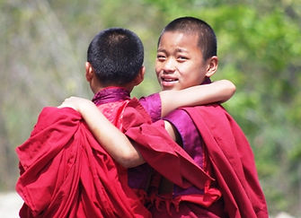 Bhutan Gomkora festival young monks