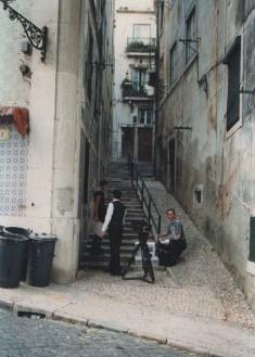 Filming in Lisboa