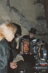 Tamara Jordan filming the magician