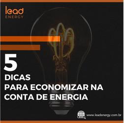 5 dicas para economizar na conta de energia