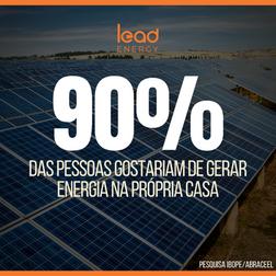 90% das pessoas gostariam de gerar energia em casa