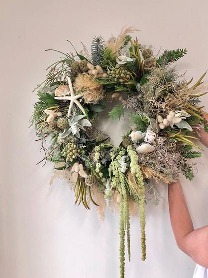 Marigolds @ your beach house wreath