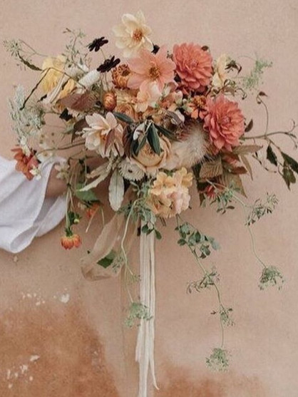 Marigold bouquets