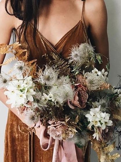 Marigold bridal party