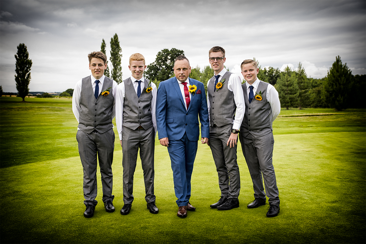 The Boys Wedding Photo