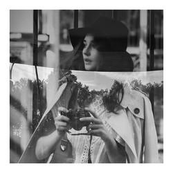 Black and White Camera Portrait