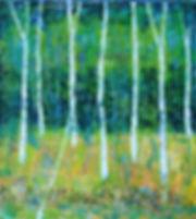 14.birch tree. 90x100cm. oil on canvas.2