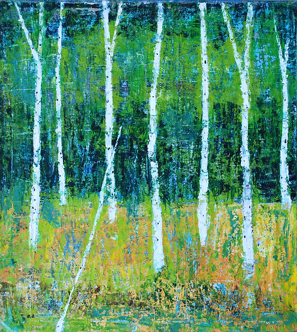 14.birch tree. 90x100cm. oil on canvas.2