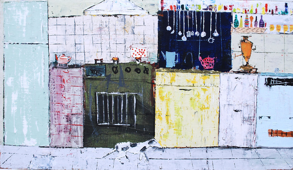 5.kitchen. oil on canvas. 65X110cm. 2013