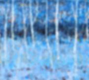 birch tree.90x100cm.oil on canvas. 2013.