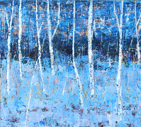 birch tree.90x100cm.oil on canvas. 2013.