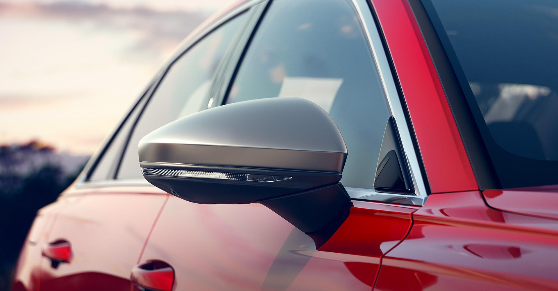 Aluminium-look exterior mirrors