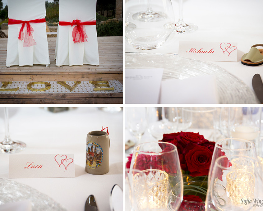 table details at a wedding