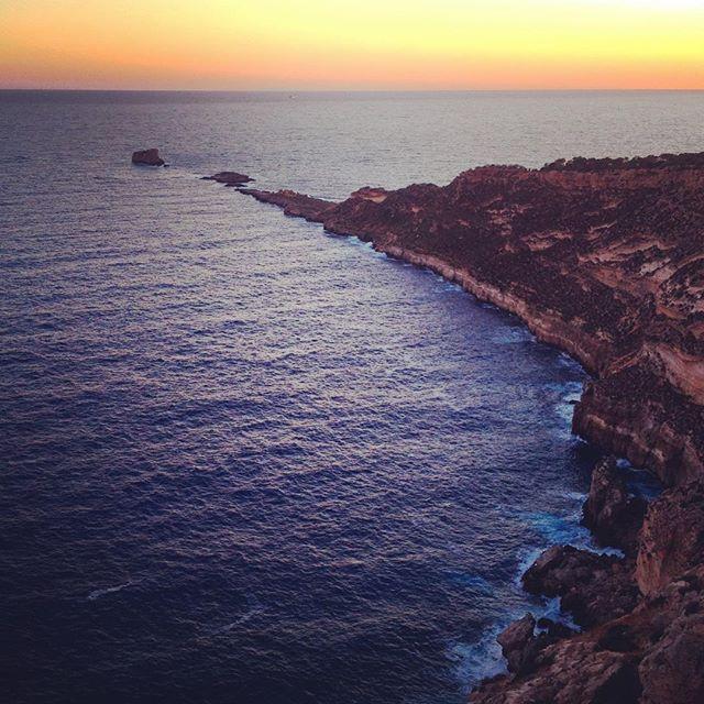 Mallorca coast line photographed in